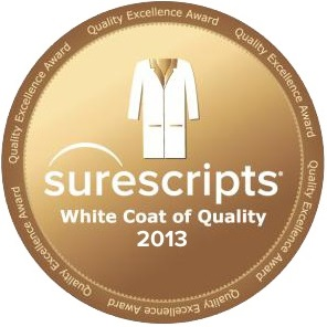 Surescripts White Coat Quality - eprescribing award 2013