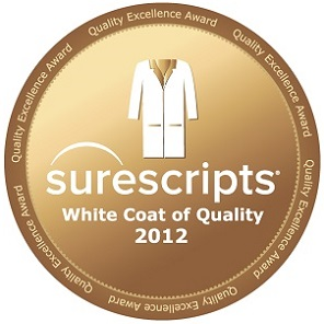 Surescripts White Coat Quality - eprescribing award 2012